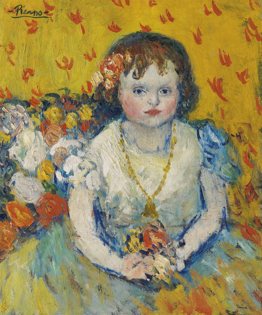 Pablo Picasso-Fillette Au Pendentif-1901