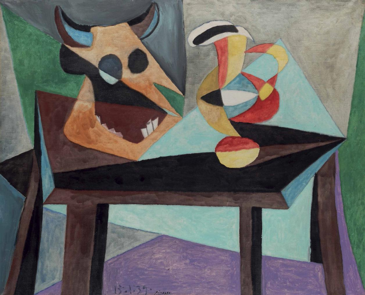 Pablo Picasso-Nature Morte: Tete De Taureau-1939