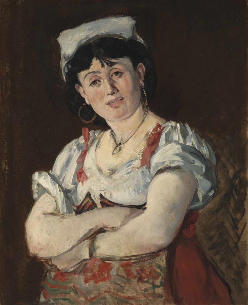 Edouard Manet-Litalienne-1860