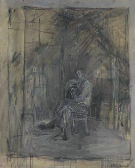 Alberto Giacometti-Homme Assis-1950