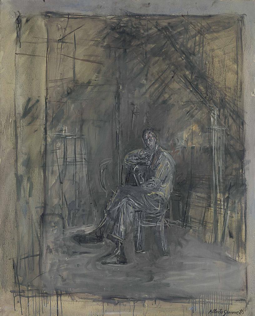 Alberto Giacometti-Homme Assis-1950