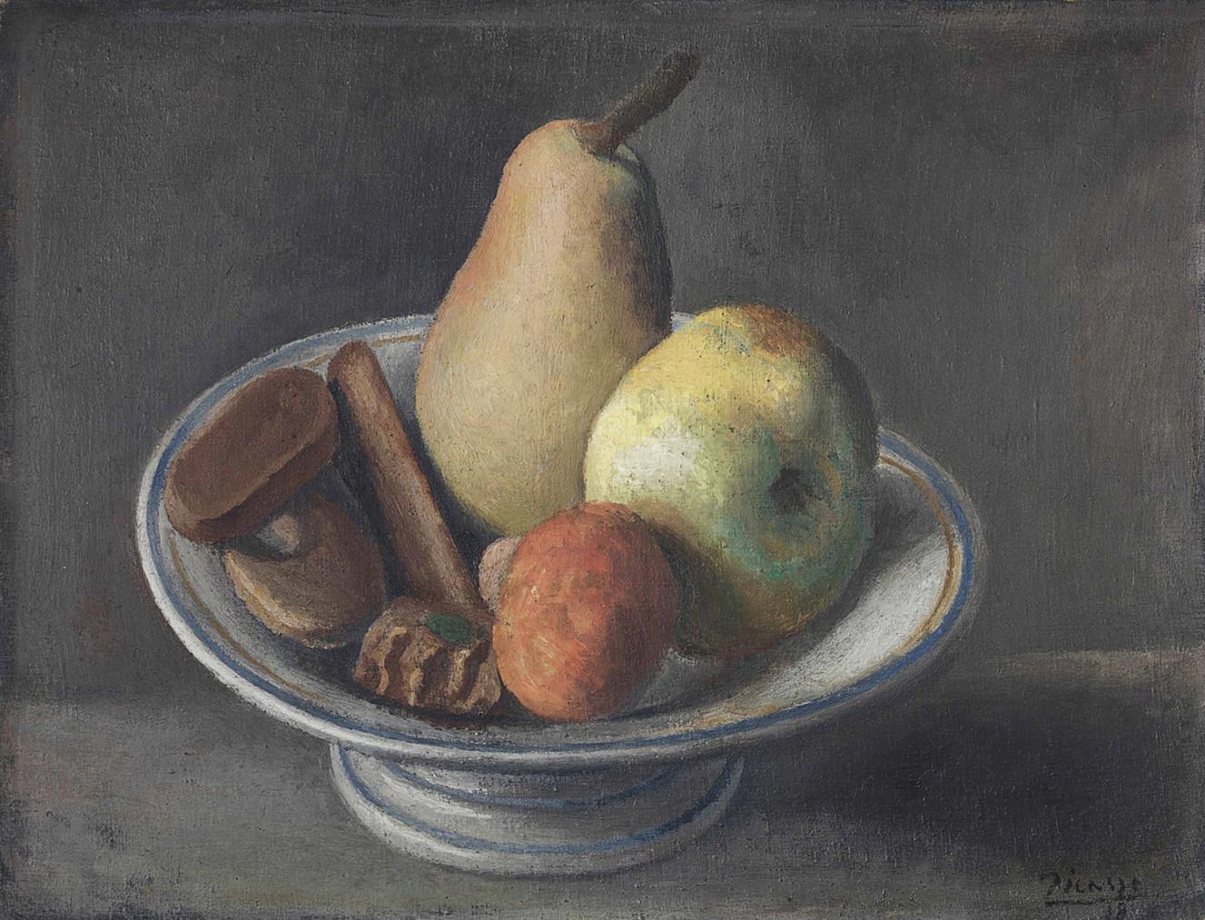 Pablo Picasso-Compotier Avec Fruits-1918