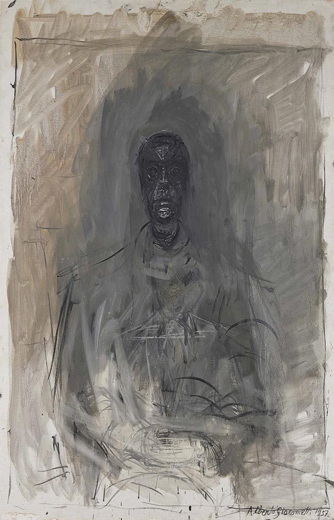 Alberto Giacometti-Tete Noire (Portrait De Diego)-1957