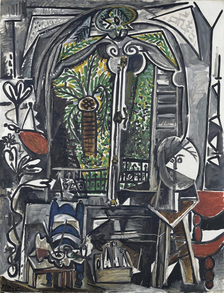 Pablo Picasso-Latelier-1955