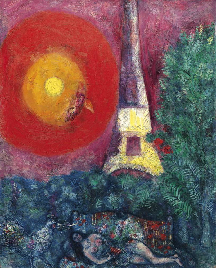Marc Chagall-La Tour Eiffel-1929