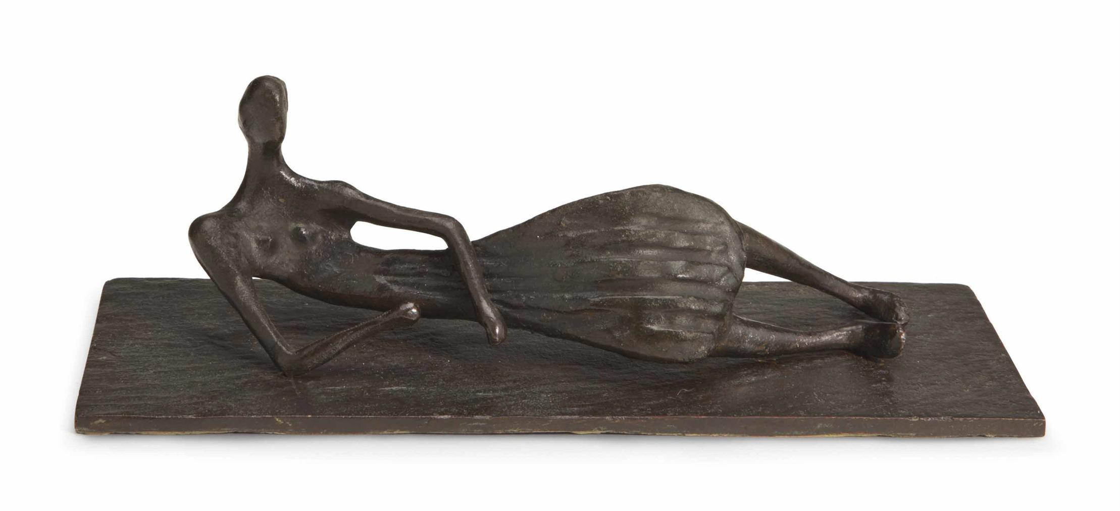Henry Moore-Thin Reclining Figure-1953