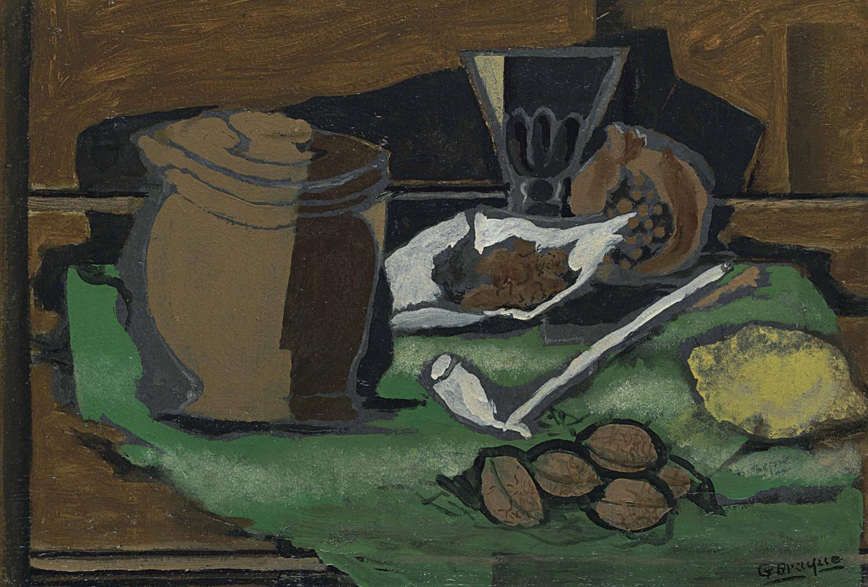 Georges Braque-Nature Morte A La Pipe-