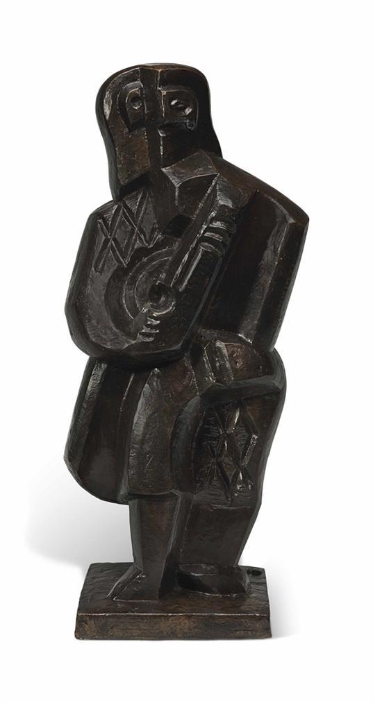 Jacques Lipchitz-Arlequin A La Mandoline-1920