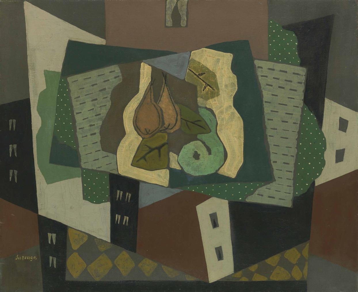 Leopold Survage-Paysage Aux Poires-1920