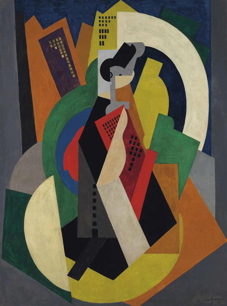 Albert Gleizes-Lhomme Dans La Ville-1920