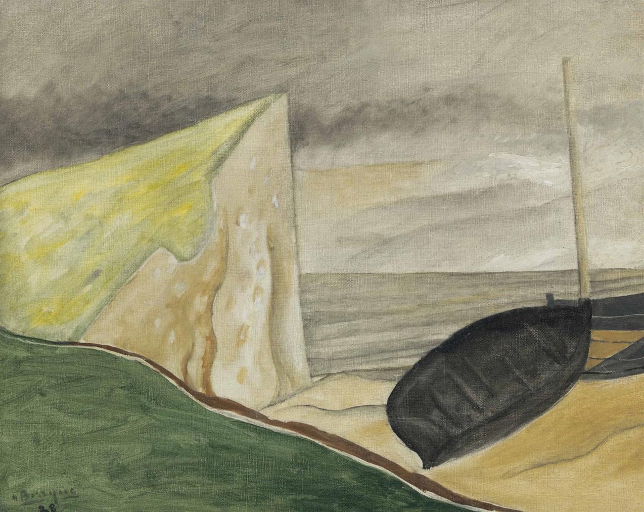 Georges Braque-Falaise Et Bateau Echoue-1928