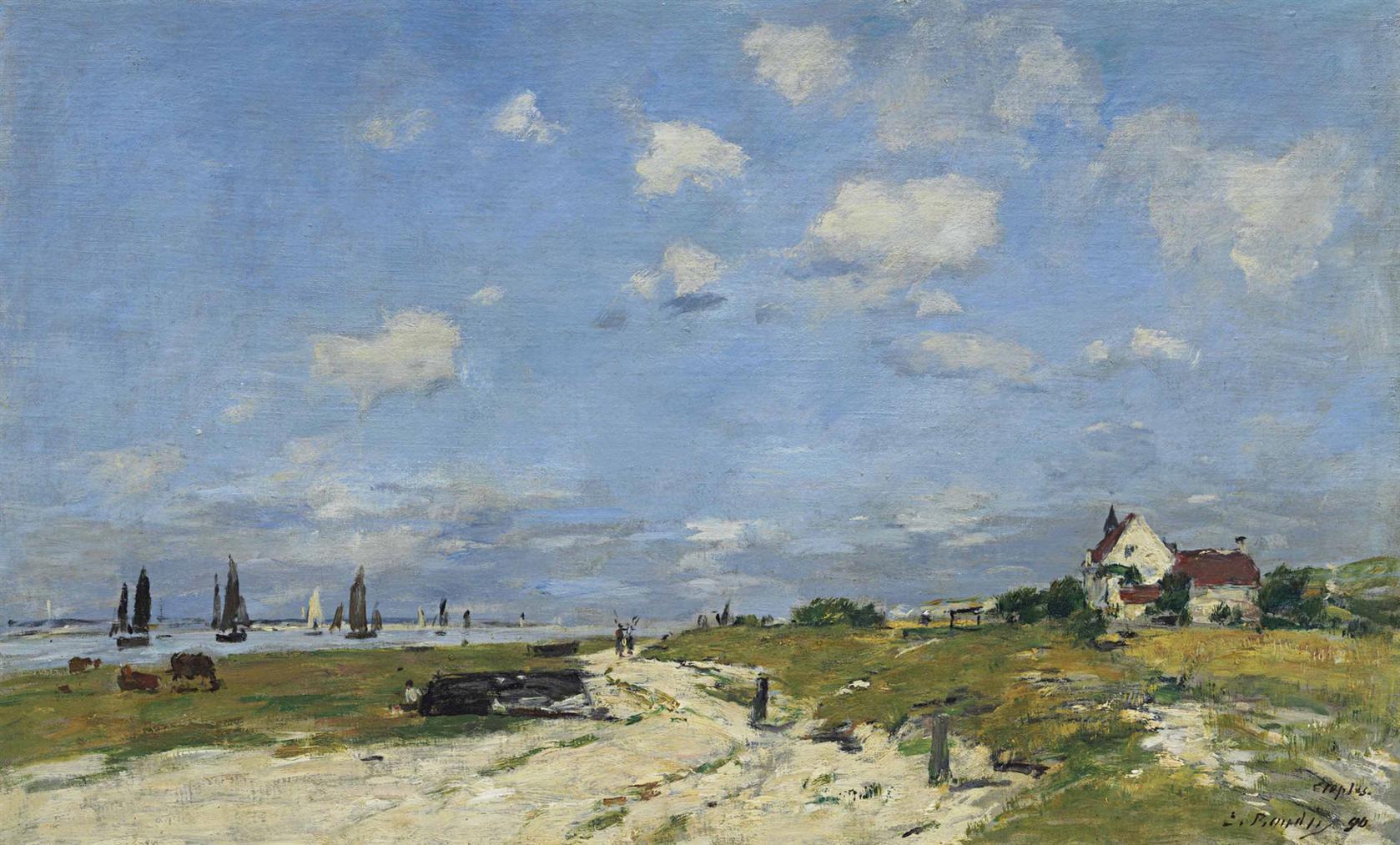 Eugene Louis Boudin-Les Dunes A Etaples-1890