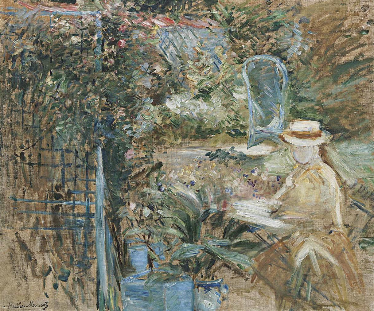 Berthe Morisot-Fillette Dans Le Jardin-1887