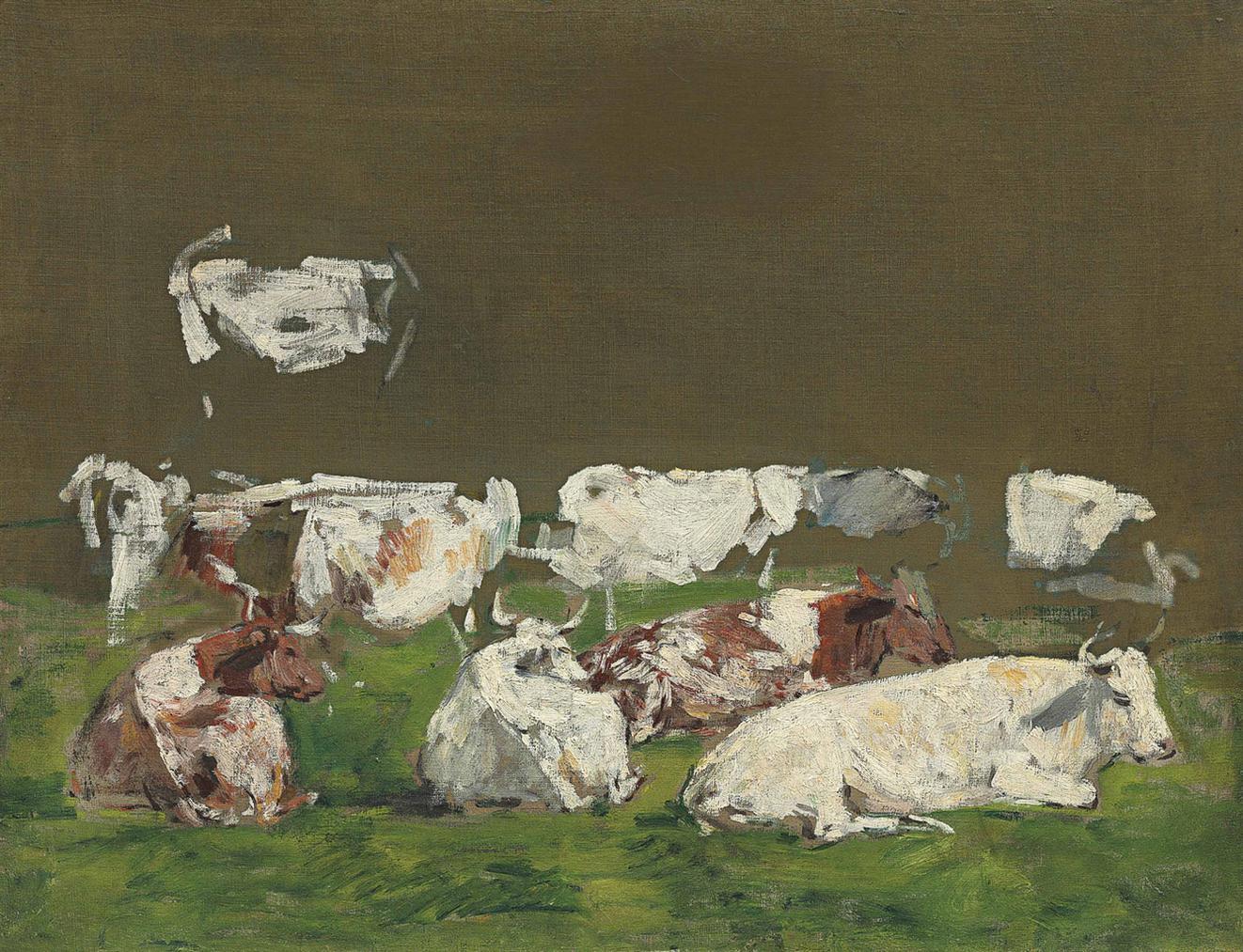 Eugene Louis Boudin-Etude De Vaches-1885