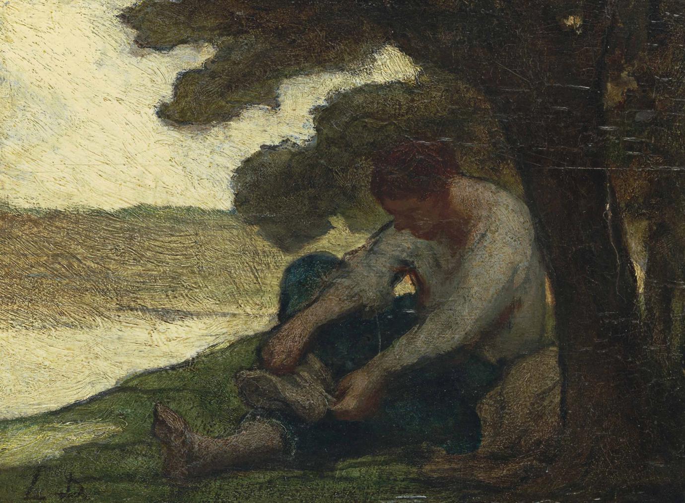 Honore Daumier-Apres Le Bain-1848
