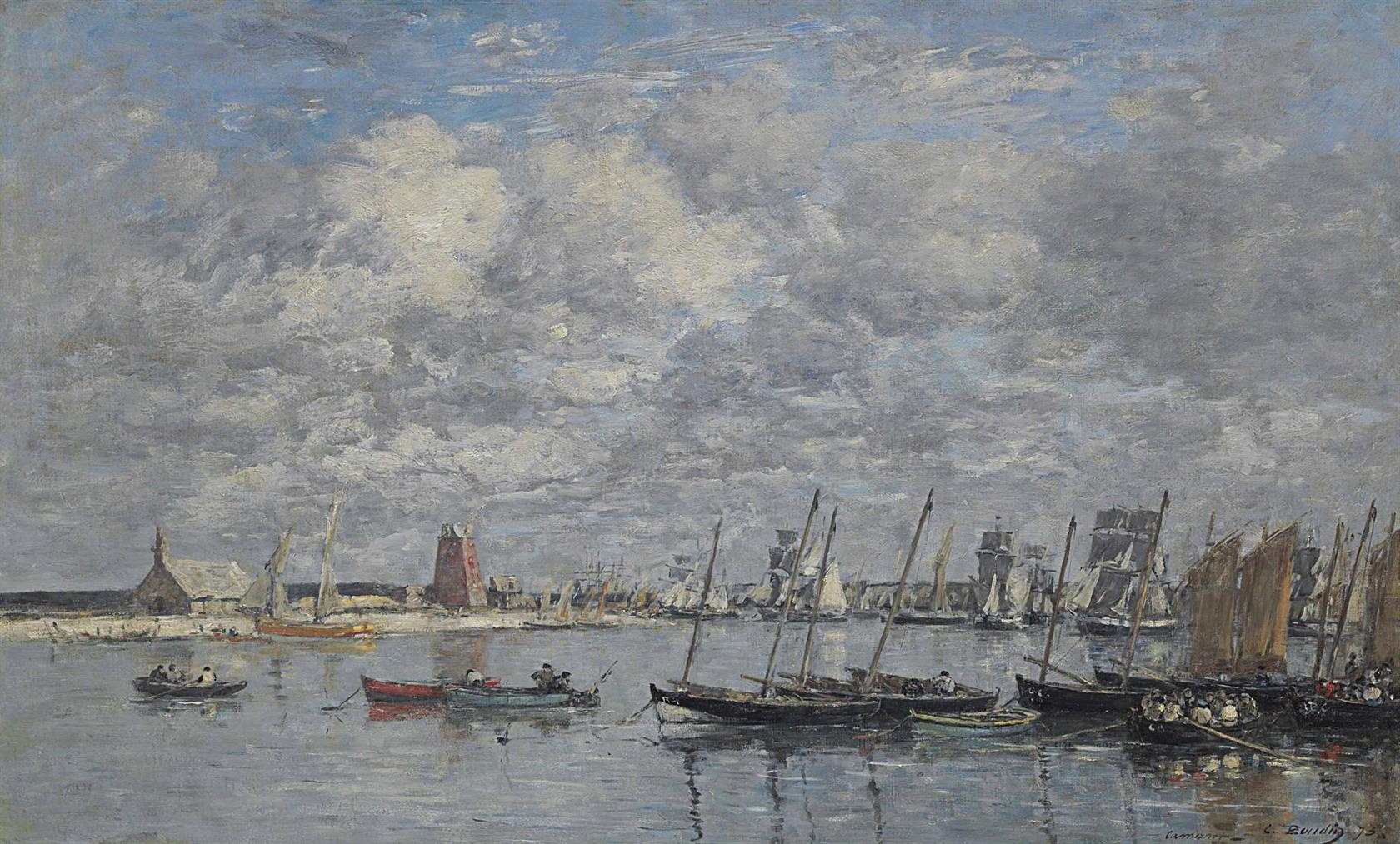 Eugene Louis Boudin-Camaret, Le Port-1873