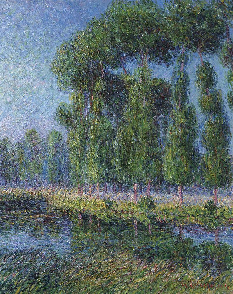 Gustave Loiseau-Peupliers Au Bord De Leure-1902