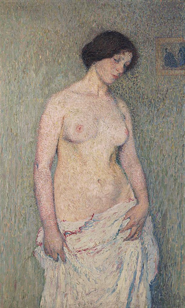 Henri Martin-Jeune Femme Nue-