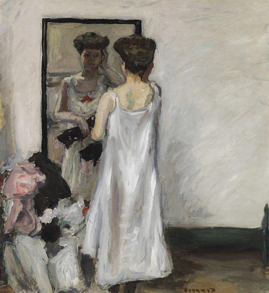 Pierre Bonnard-A Demi Deshabillee, Devant La Glace-1905