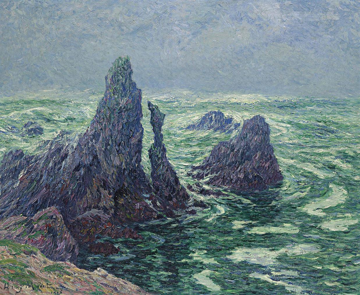 Henry Moret-Les Aiguilles Du Port-Cotom A Belle-Ile-1906