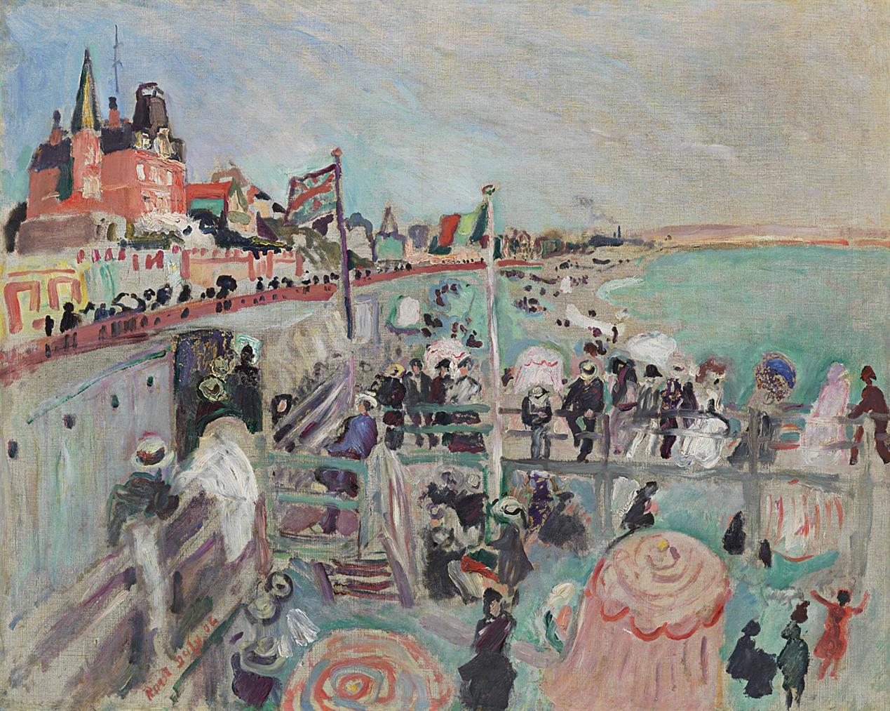 Raoul Dufy-La Plage Du Havre-1906
