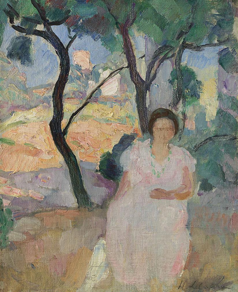 Henri Lebasque-Jeune Femme Dans Un Jardin-1925