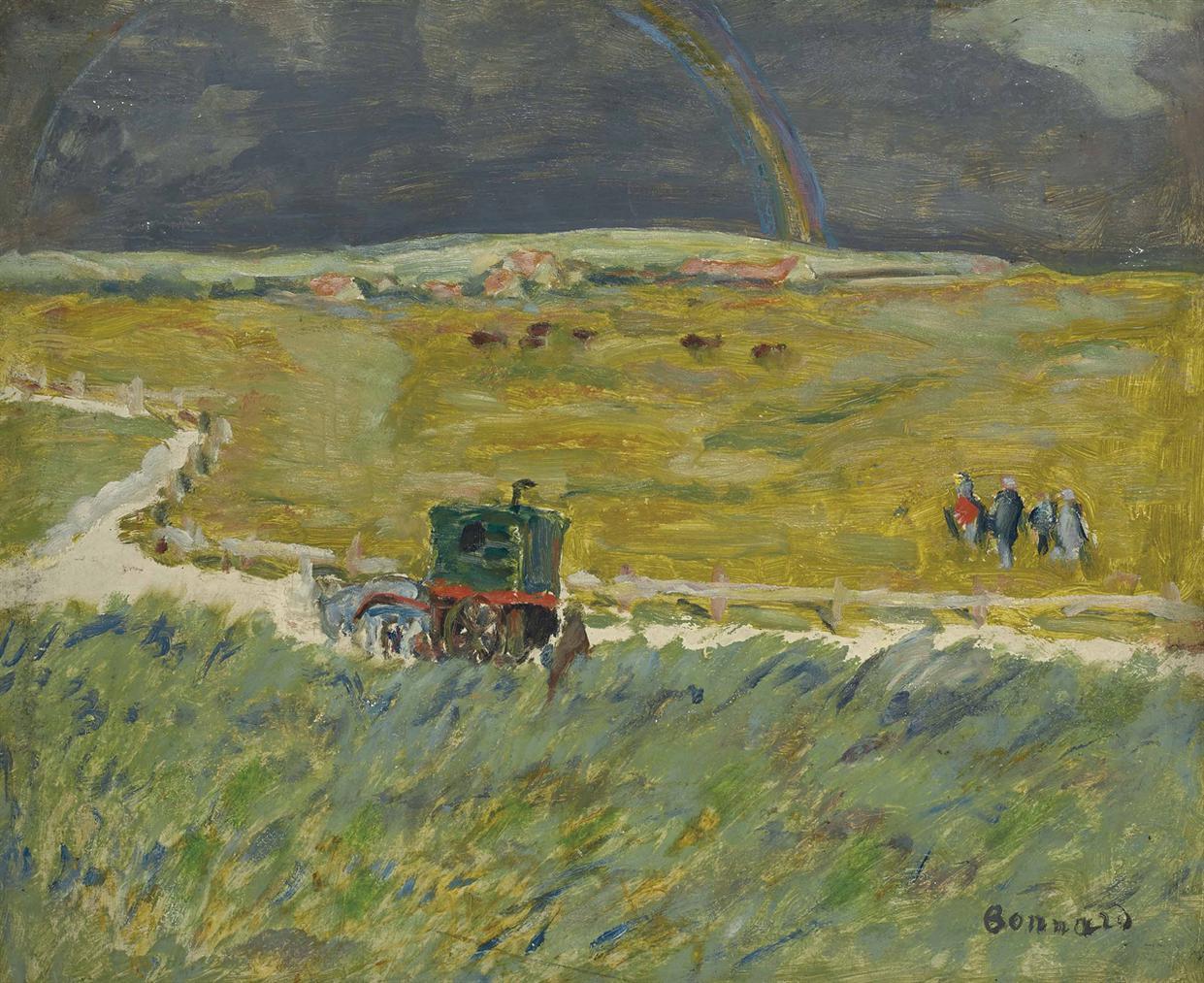 Pierre Bonnard-Larc-En-Ciel, La Roulotte-1909