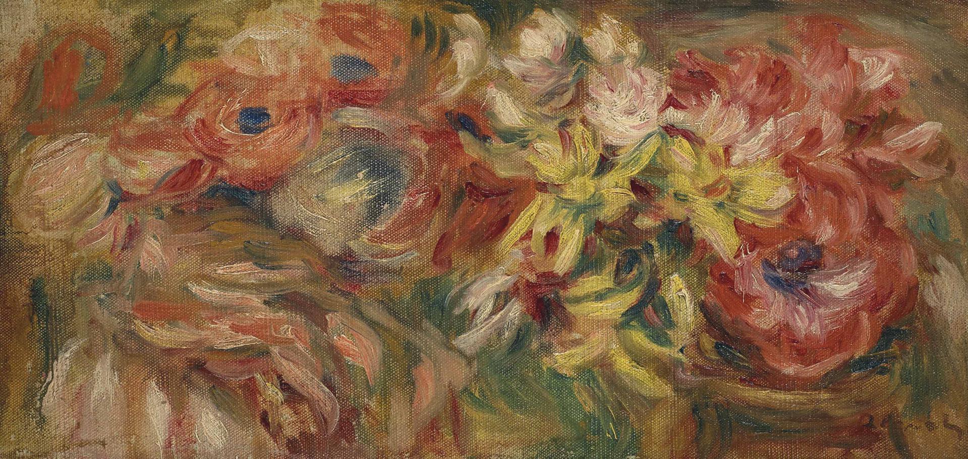 Pierre-Auguste Renoir-Fleurs Variees-1918