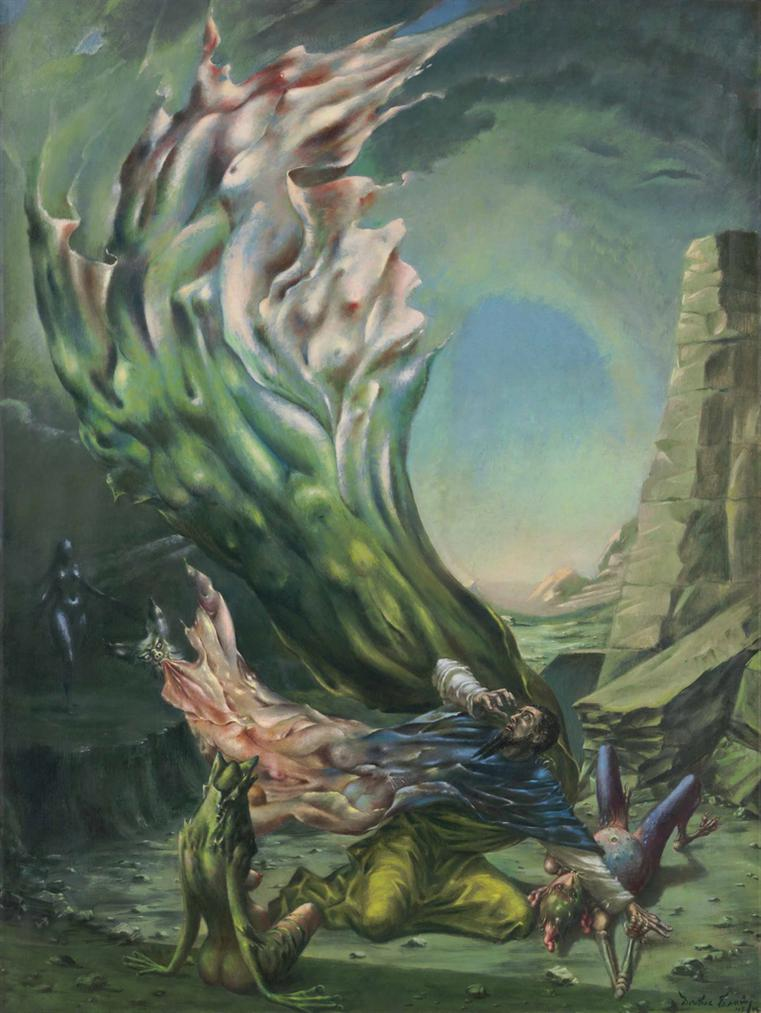 Dorothea Tanning-The Temptation Of St. Anthony-1946