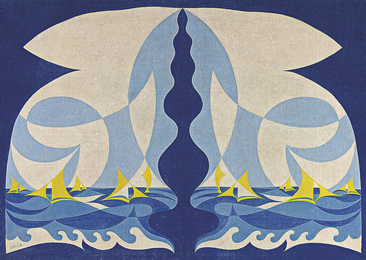 Giacomo Balla-Linee Forza Di Mare-1926