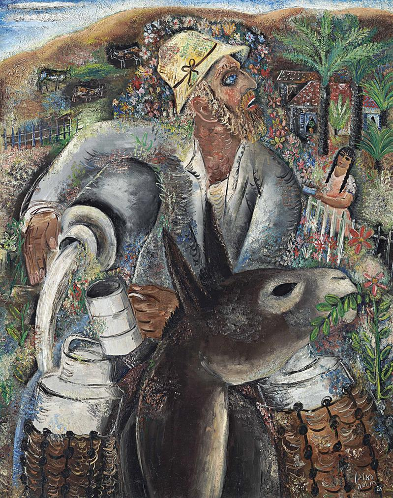 Reuven Rubin-The Milkman-1928