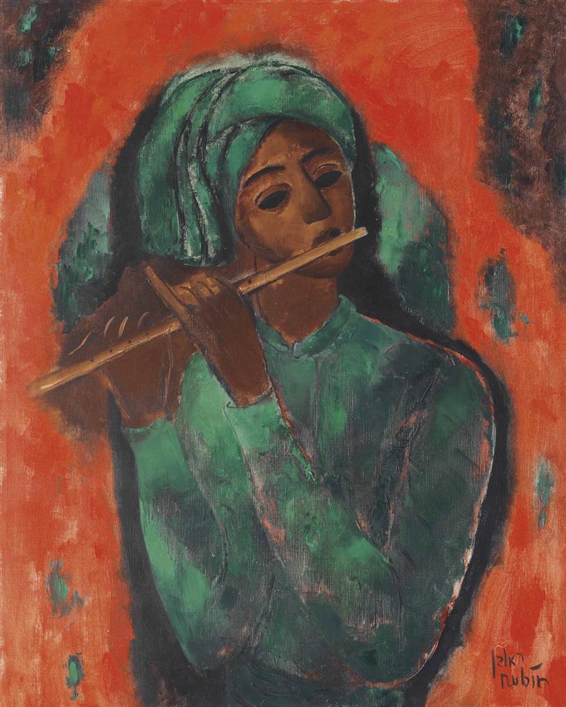 Reuven Rubin-Flute Player-1959