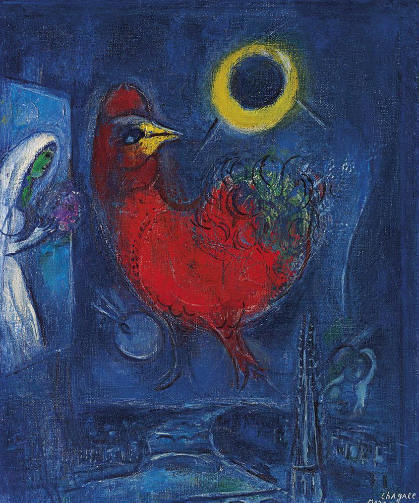 Marc Chagall-La Sainte-Chapelle, Etude-1953