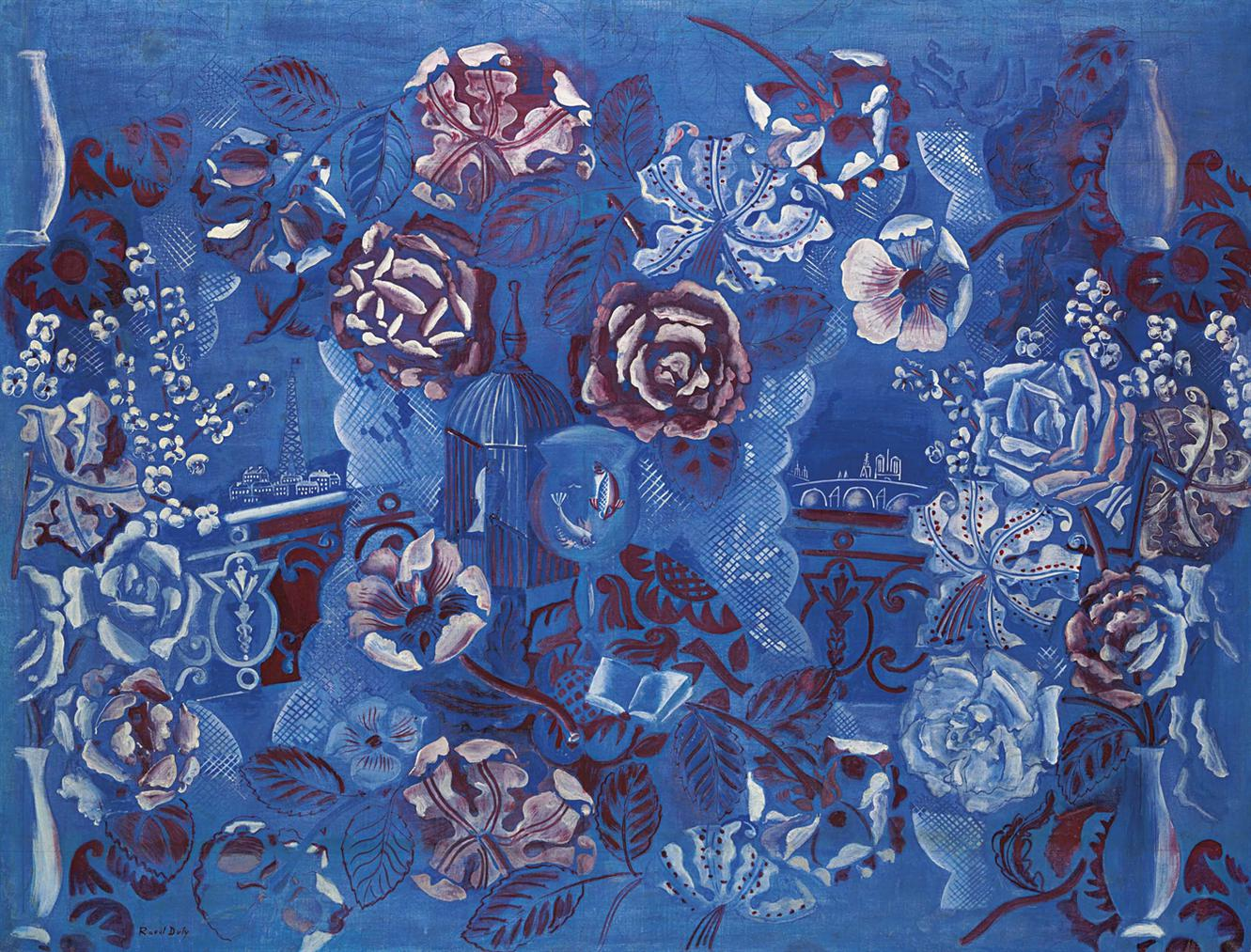 Raoul Dufy-Fenetre Ouverte Sur Paris Et Composition Florale-1924