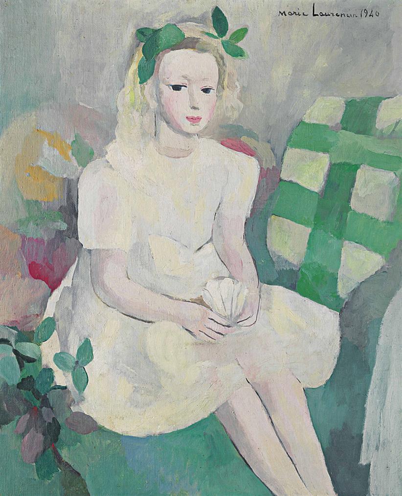 Marie Laurencin-La Petite Fille Au Volant Ou Fillette En Blanc-1940