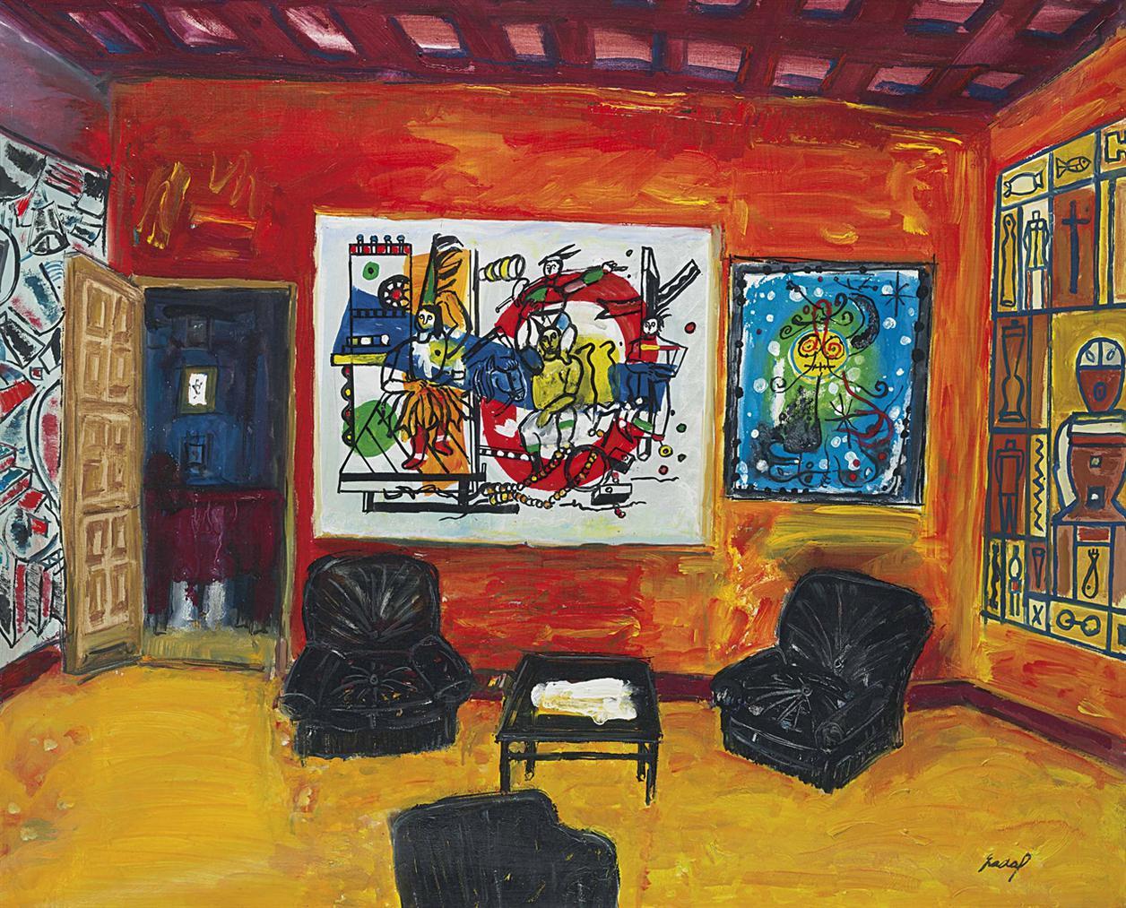 Carlos Nadal-Le Salon Rouge-1990