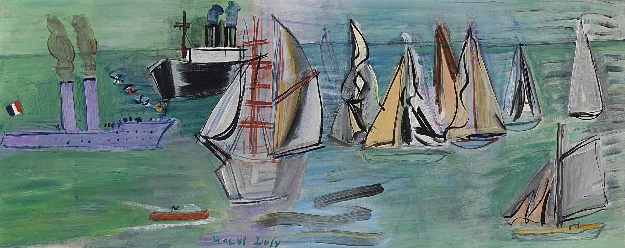 Raoul Dufy-Les Regates-1934