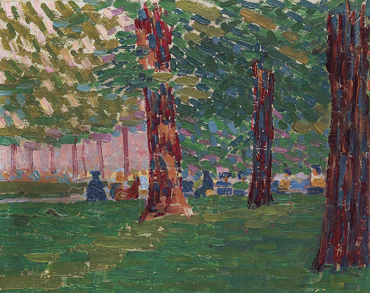 Auguste Herbin-Sous Les Arbres, Jardin Du Luxembourg-1905