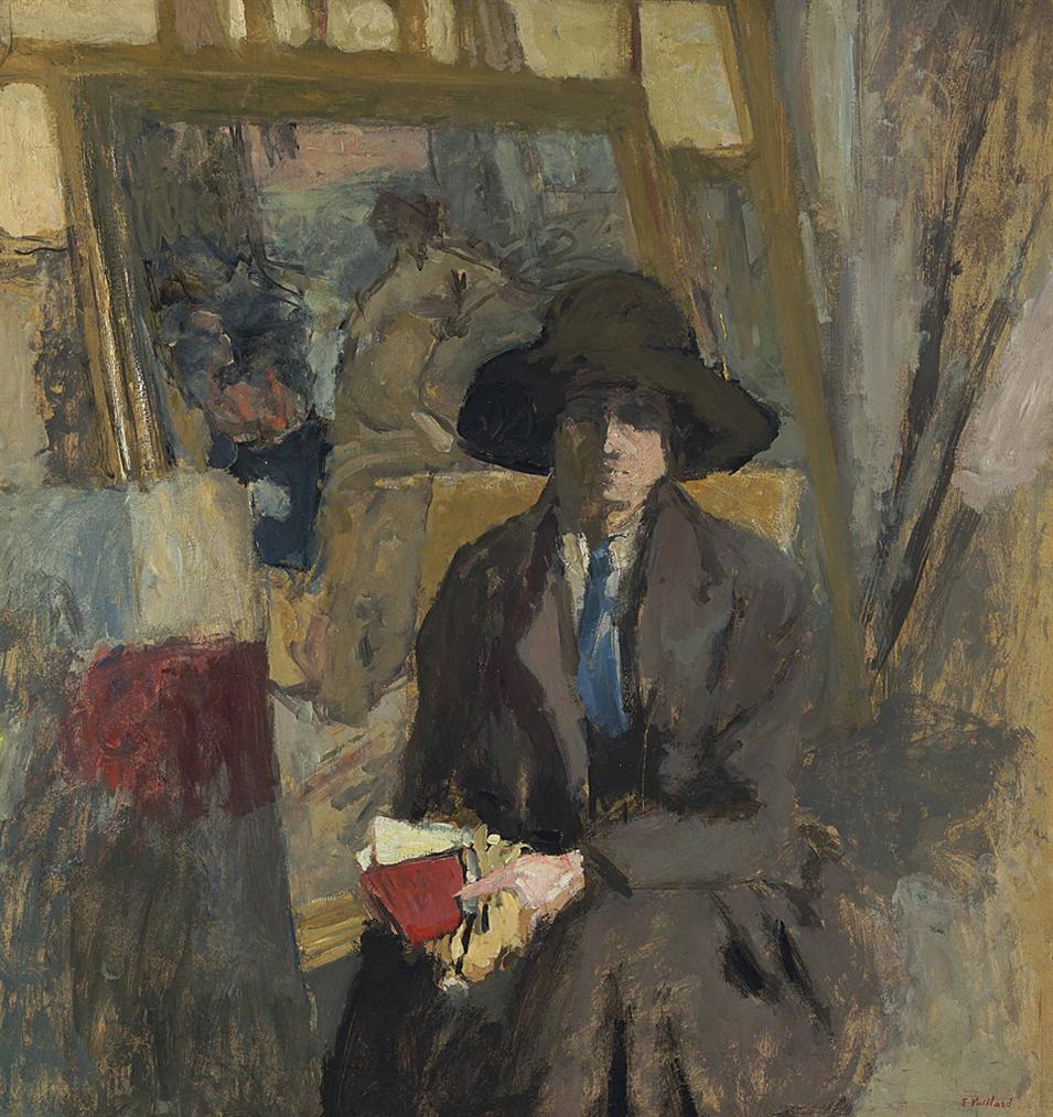 Edouard Vuillard-Lili Lamy En Tailleur Noir Et Cravate Verte-1916