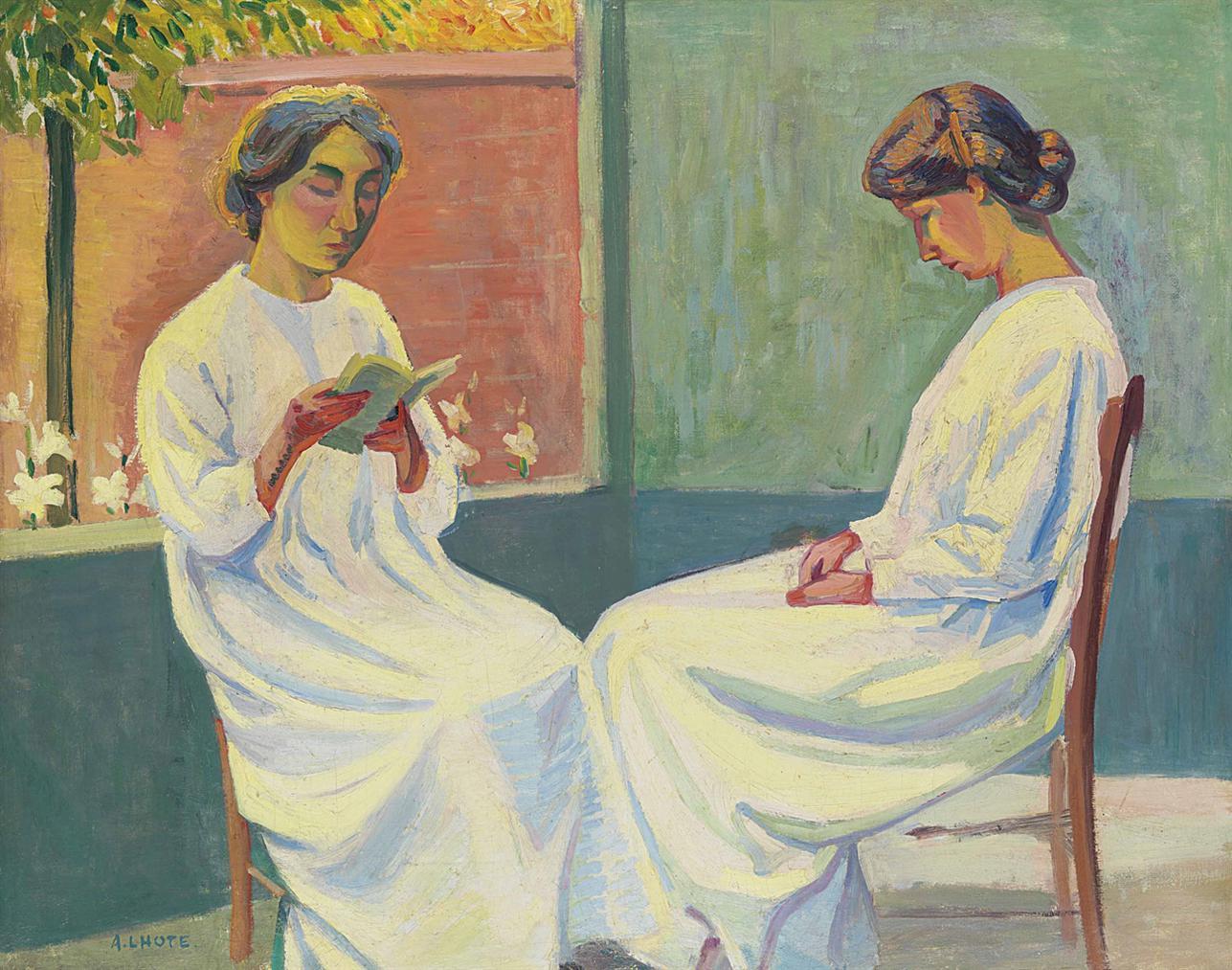 Andre Lhote-La Lecture Pieuse-1908