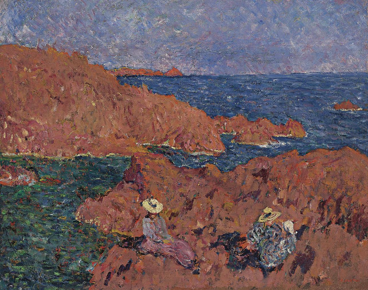 Louis Valtat-Les Rochers Rouges-1900