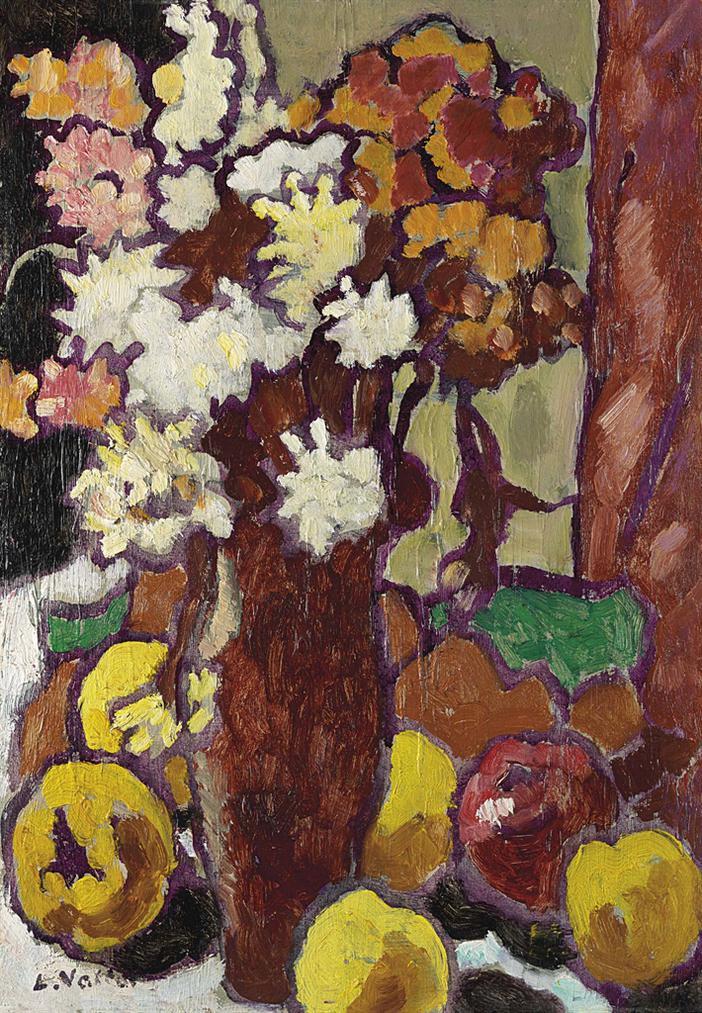 Louis Valtat-Le Vase De Fleurs-