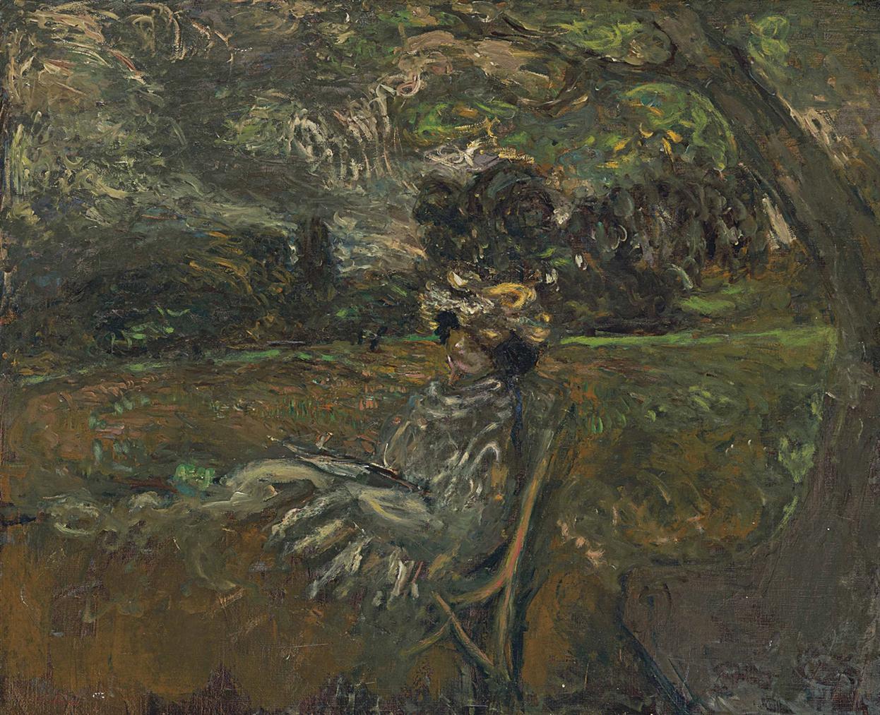 Edouard Vuillard-Madame Hessel Au Soleil Couchant-1907