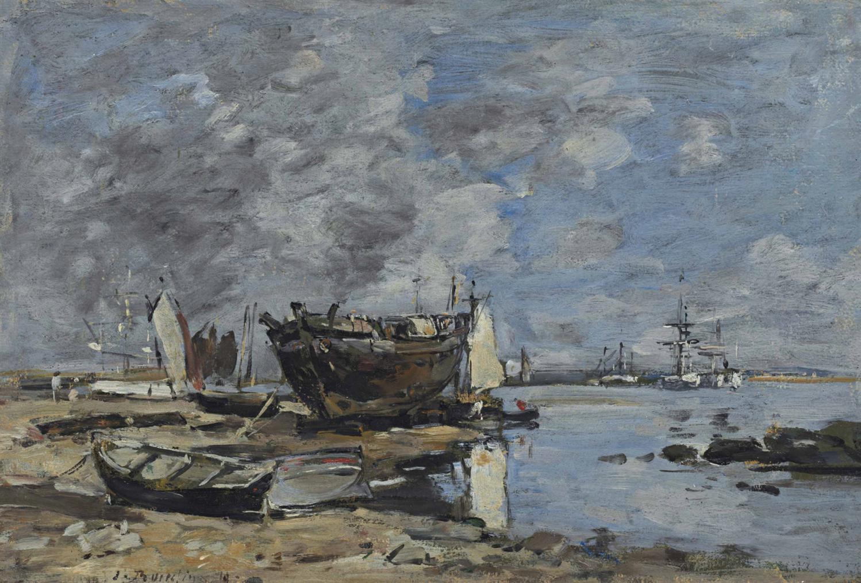 Eugene Louis Boudin-Plougastel, Le Passage Du Bac-1870