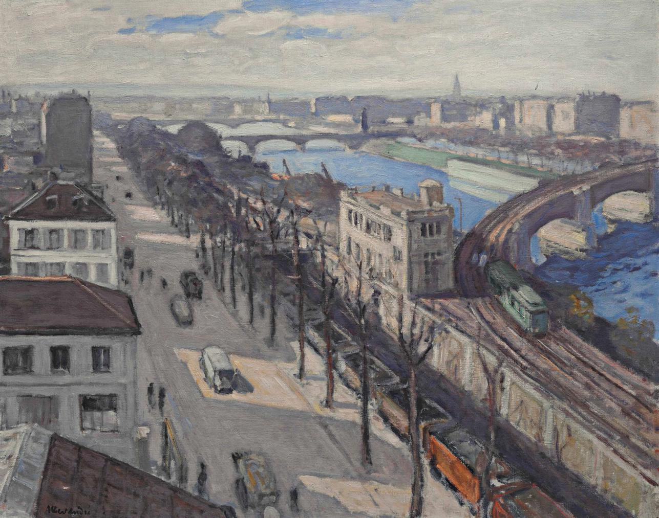 Albert Andre-Le Quai De Grenelle, Paris-1920