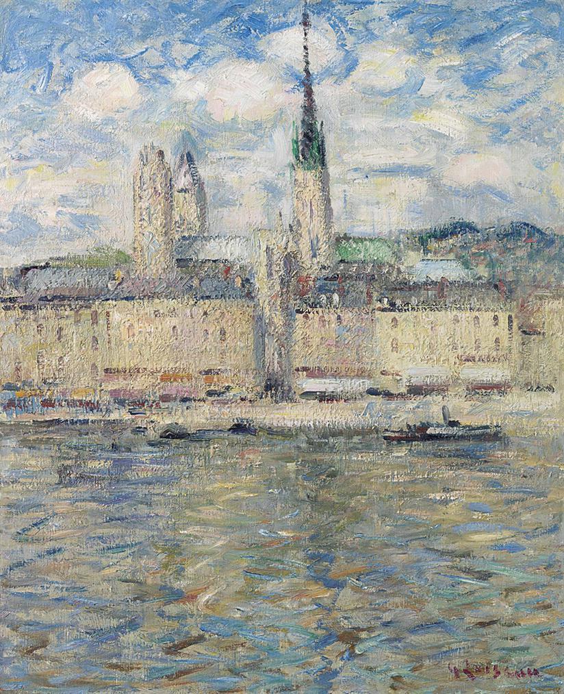 Gustave Loiseau-La Seine A Rouen-1927