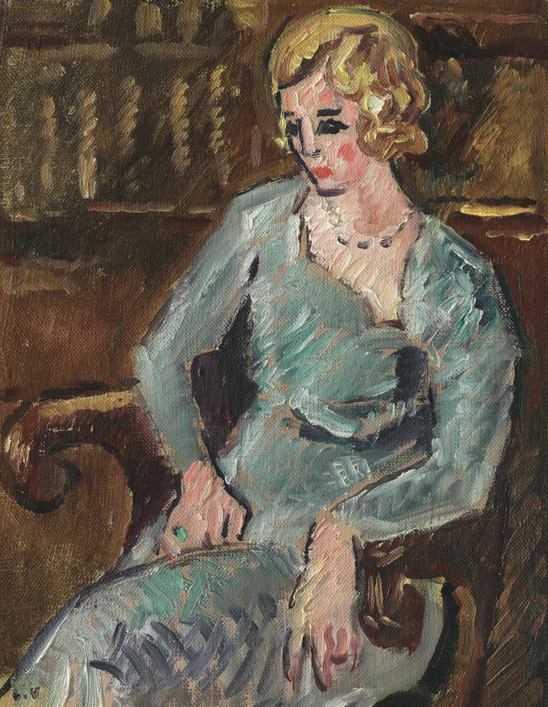 Louis Valtat-La Jeune Fille Blonde-1927