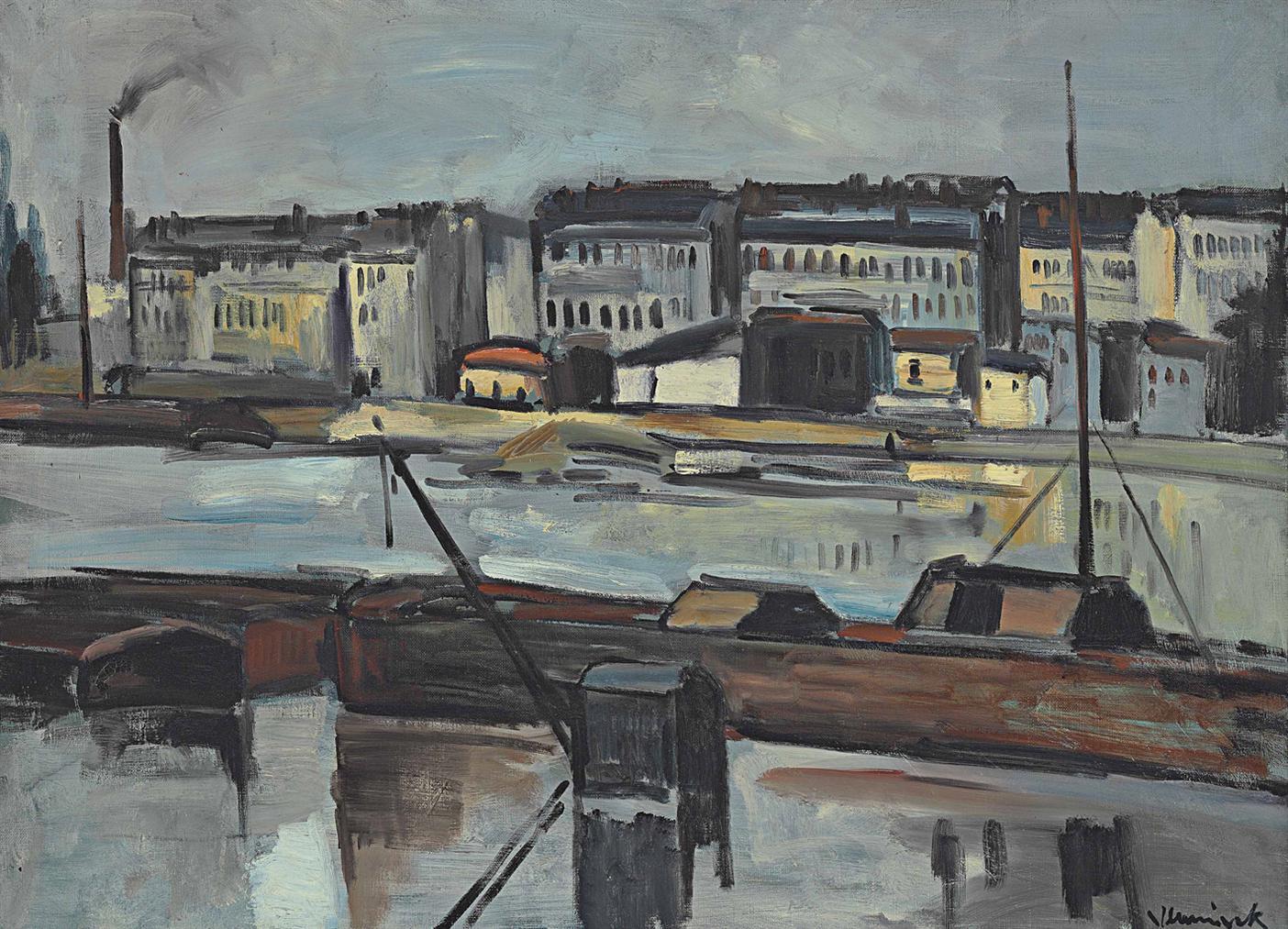 Maurice de Vlaminck-Usines Et Fleuve-1912
