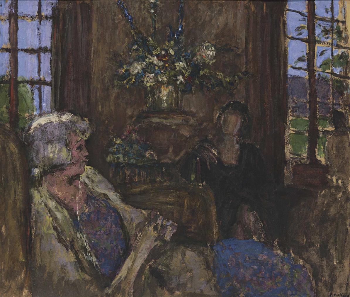Edouard Vuillard-Deux Dames Dans Le Salon Des Clayes-1938