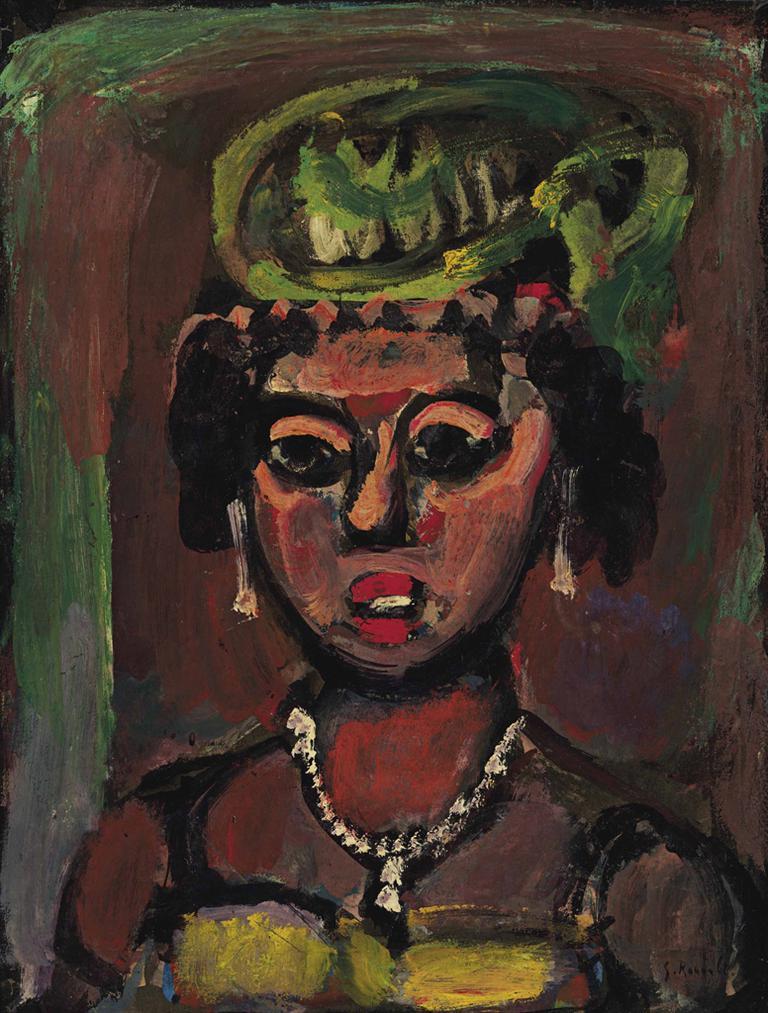 Georges Rouault-Femme Au Chapeau Vert-1939